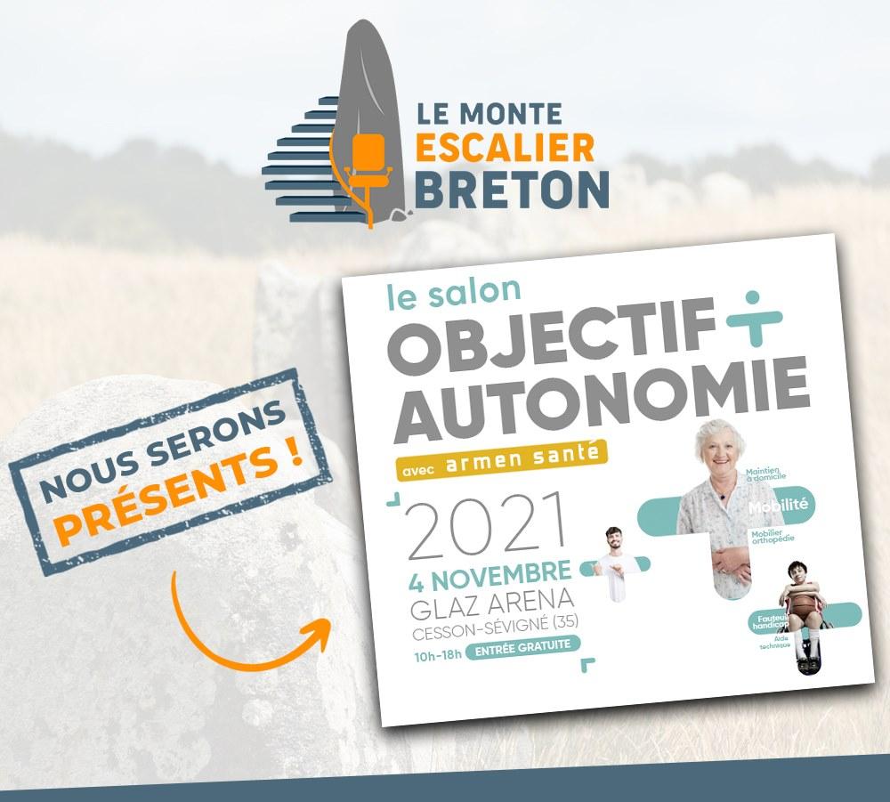 Le monte escalier Breton au Salon Objectif Autonomie à Cesson-Sévigné (35) le 4 novembre prochain